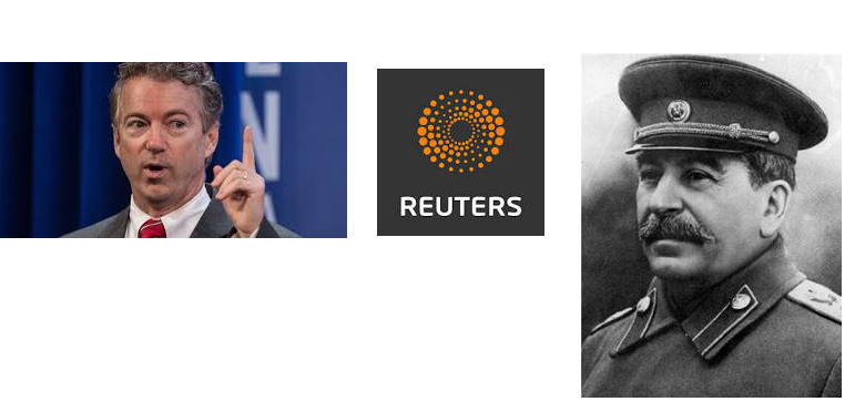 Rand Paul and Stalin?  The false classifications of libertarianism by a Reuters Journalist